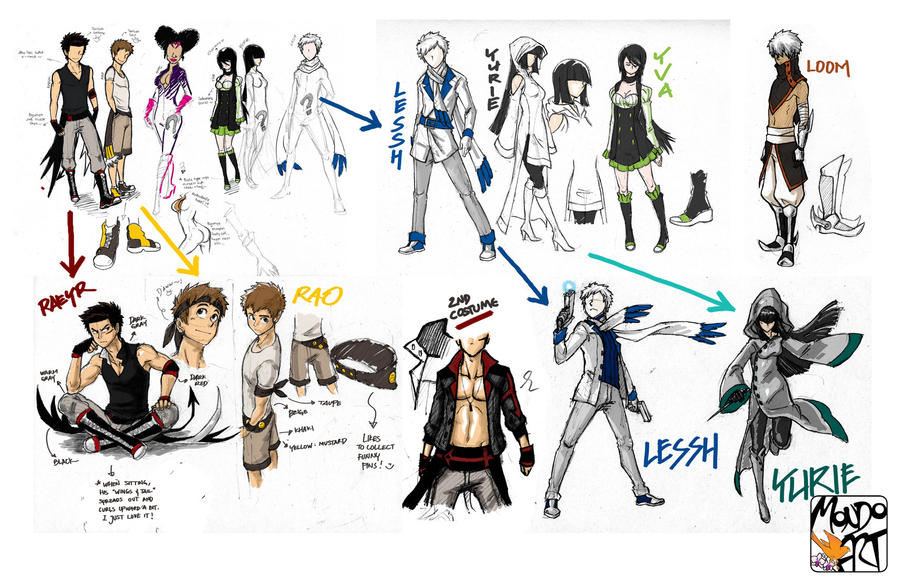 Character Costume Design Tutorial : Character costume sketches by mondoart on deviantart