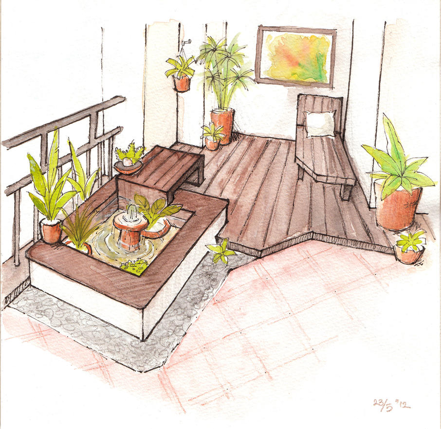 A Garden In Apartment Balcony By MondoArt