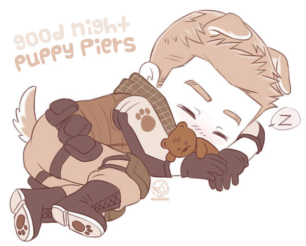 Good night puppy Piers by MondoArt
