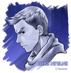 Piers Nivans side face study by MondoArt