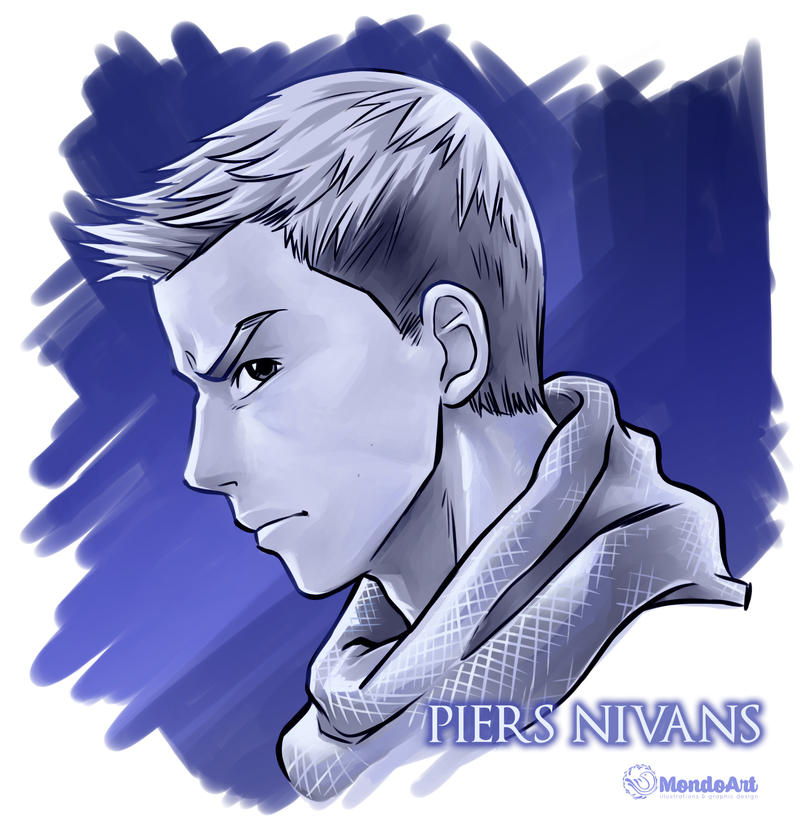 Piers Nivans side face study by MondoArt