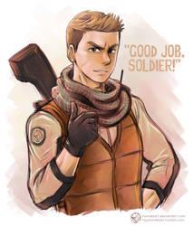Good Job, Soldier!! by MondoArt