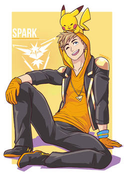 Spark and Pikachu by MondoArt