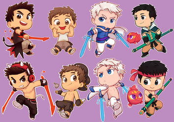 Chibis Galore! by MondoArt