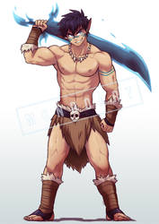 Commission - Fenris the Barbarian