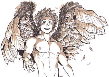 Inktober day 17 - Herb Angel by MondoArt