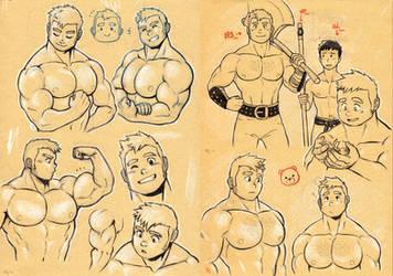 Midtone Sketches - Big Bear Guy by MondoArt