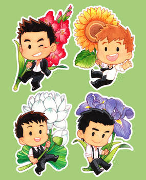 WWM 15 - Chibi Gentleman and Flowers