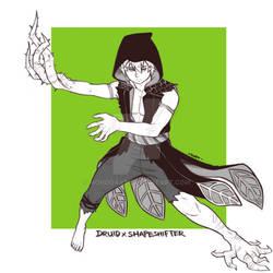 RPGtober 28 29 - Druid x Shapeshifter