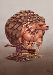 Pangolin the Barbarian by kinkajoomotion