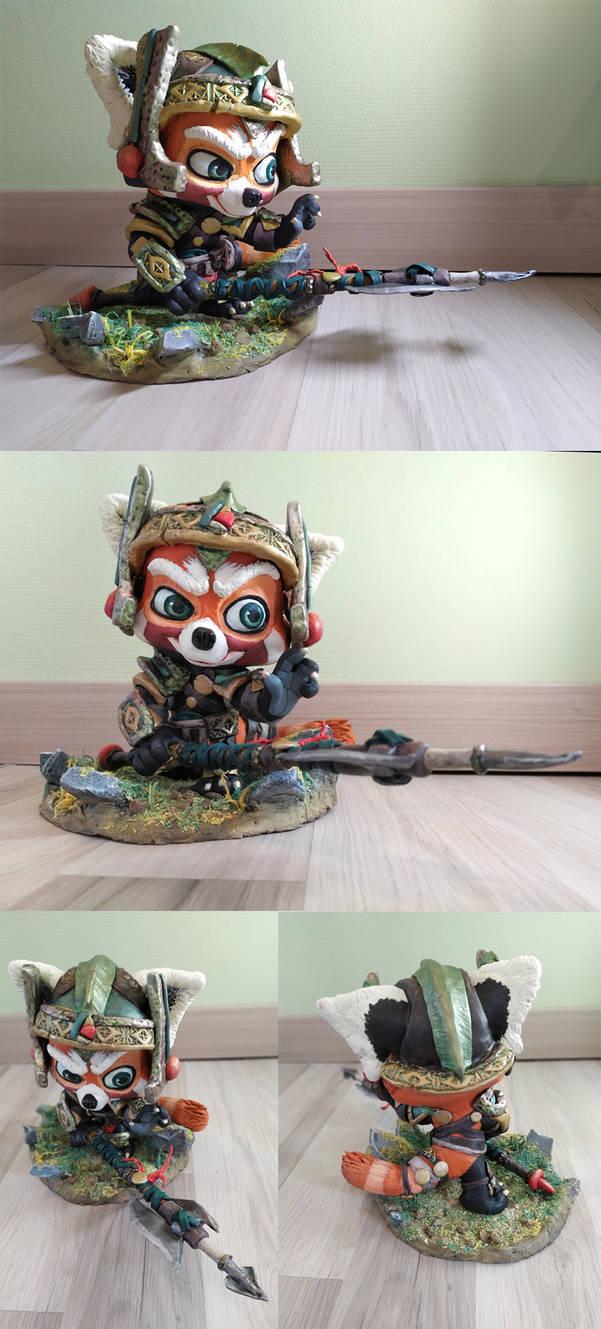 Red panda warrior