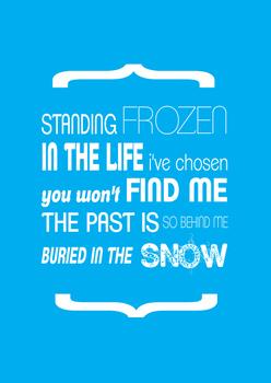 Standing frozen
