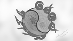 The balance of the universe, Raava vs Vaatu by InuKawaiiLover