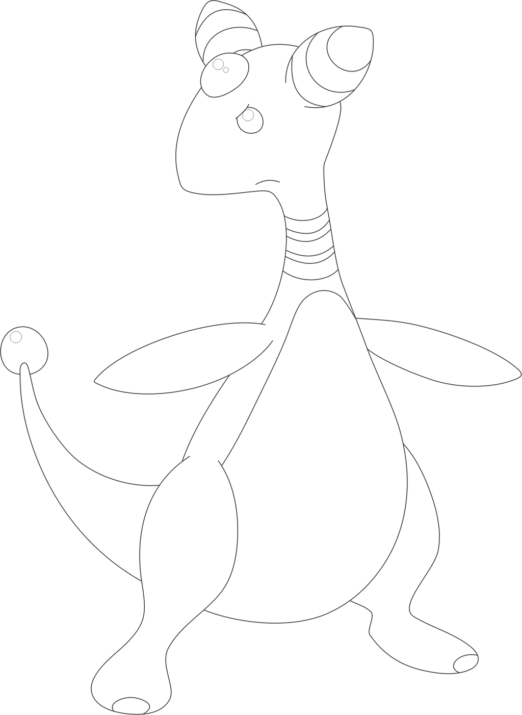 Lineart of ampharos by inukawaiilover on deviantart for Ampharos coloring pages