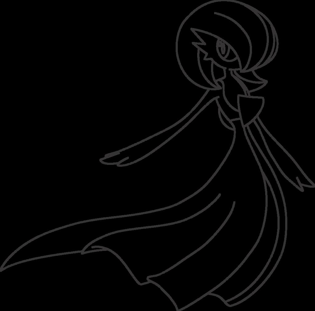 Lineart Of Gardevoir By InuKawaiiLover
