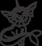 Lineart of Vaporeon