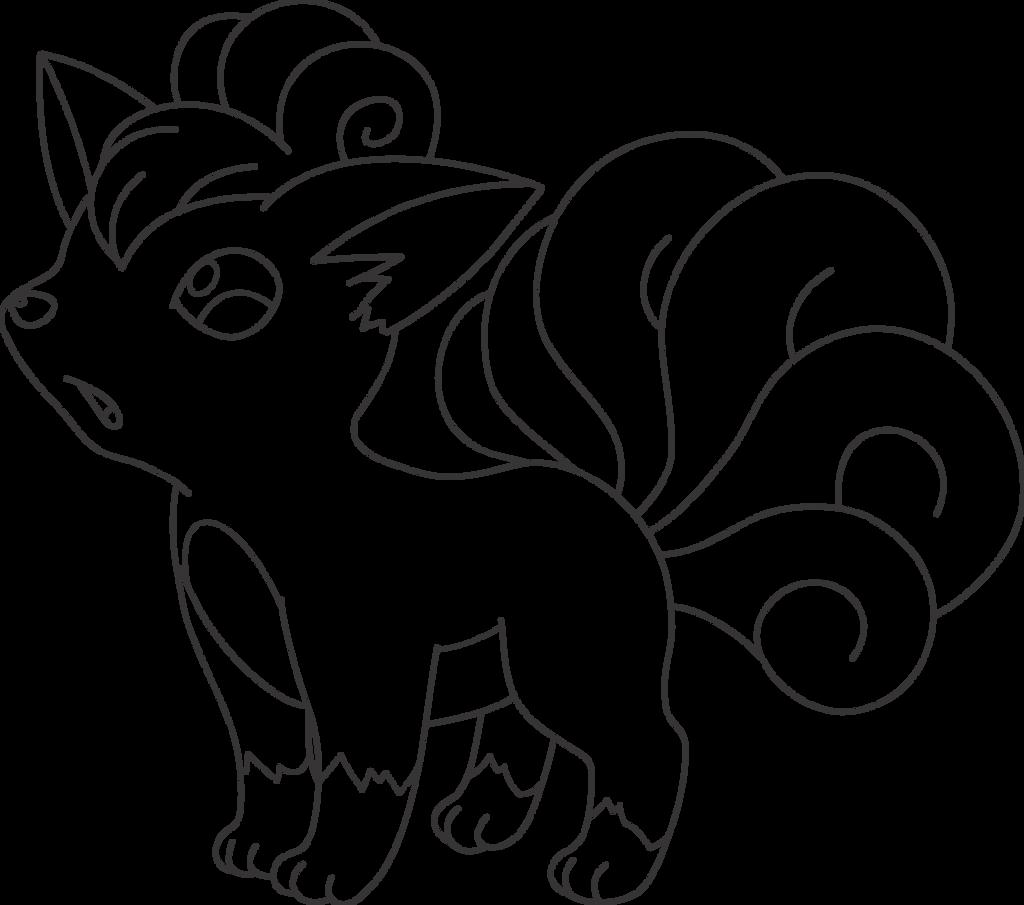 Lineart Of Vulpix By InuKawaiiLover