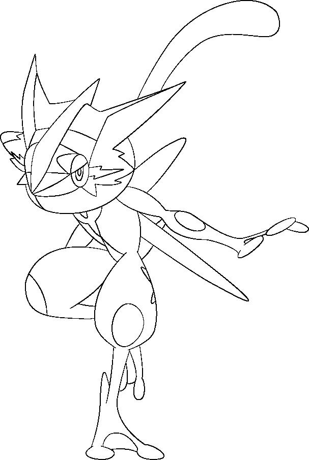 Lineart of Ash's Greninja by InuKawaiiLover on DeviantArt