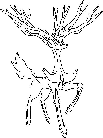 lineart of xerneas by inukawaiilover on deviantart