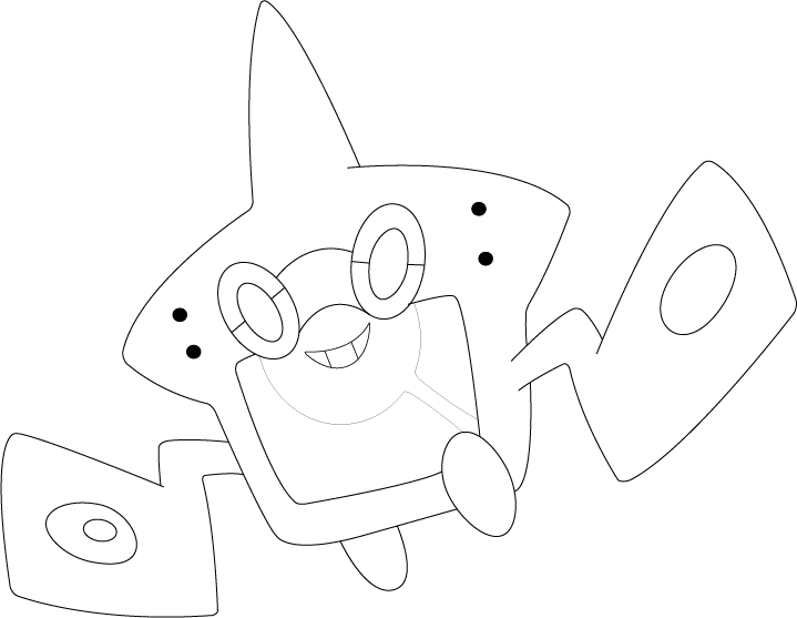 Lineart of rotom in dex form by inukawaiilover