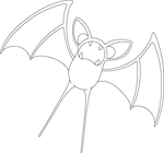Lineart of Zubat