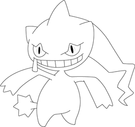 Lineart of Banette