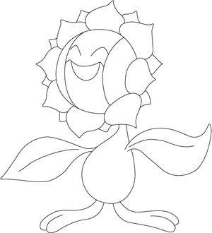 Lineart of Sunflora