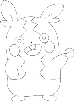 Lineart of Morpeko