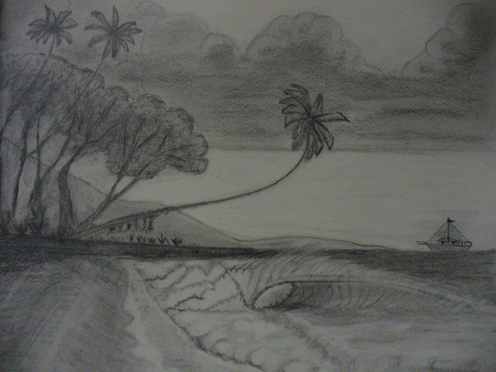 Beach Pencil Drawings | www.imgkid.com - The Image Kid Has It!