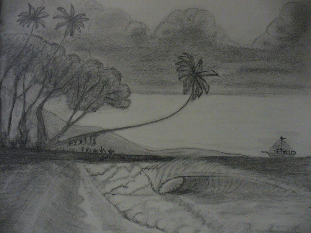 Beach Pencil Drawings | www.imgkid.com - The Image Kid Has It!