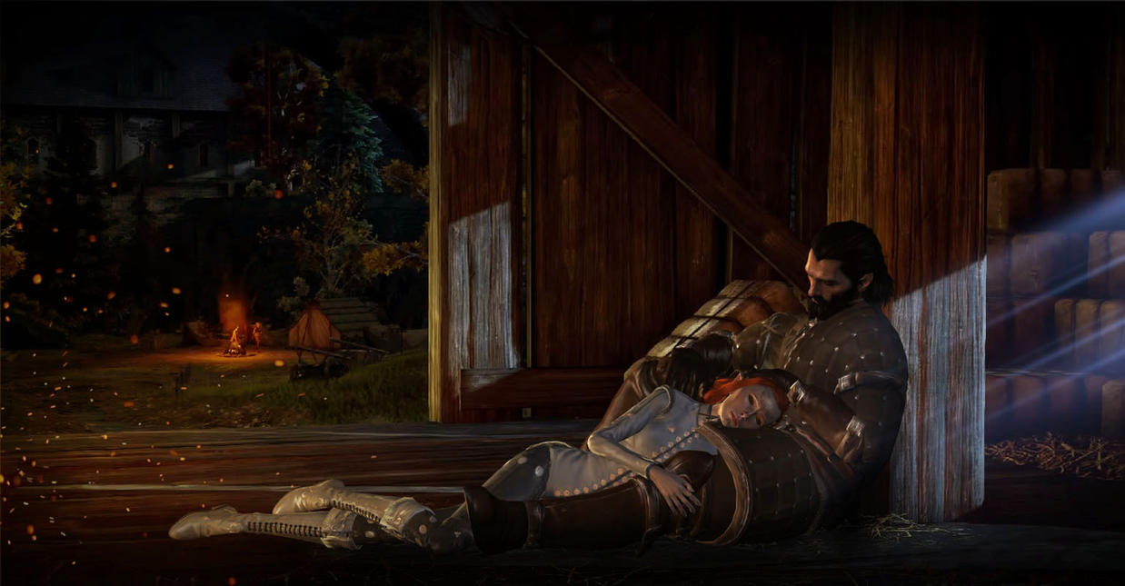 Dragon Age Inquisition: Lavellan x Blackwall (XPS) by JocundaCosplay