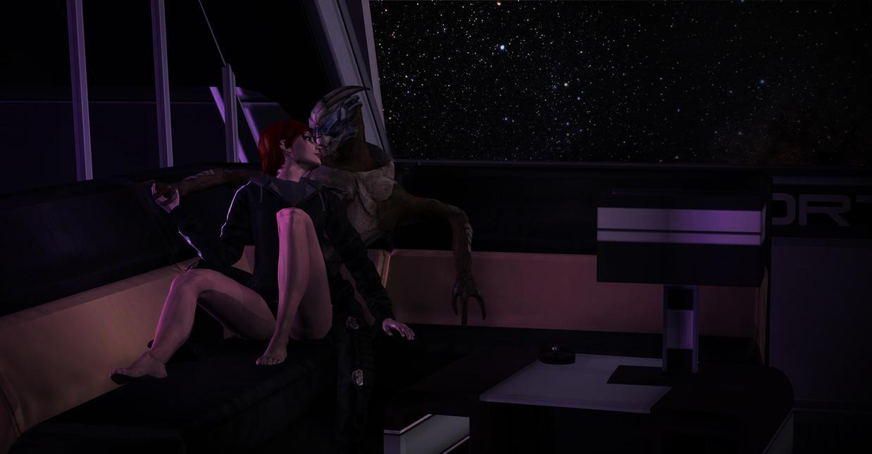 Mass Effect: Femshep x Garrus (XPS) by JocundaCosplay
