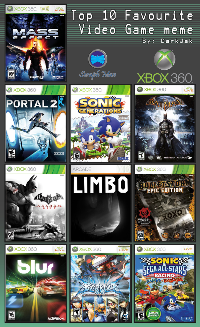 Top Xbox 360 Games : Top xbox games by shadow ice on deviantart