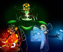 Dr. Ivo Robotnik, Dr. Neo Cortex, Dr. Albert Wily by PattiethePentist