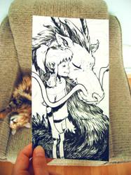 Spirited Away sketch by sumeyyekesgin