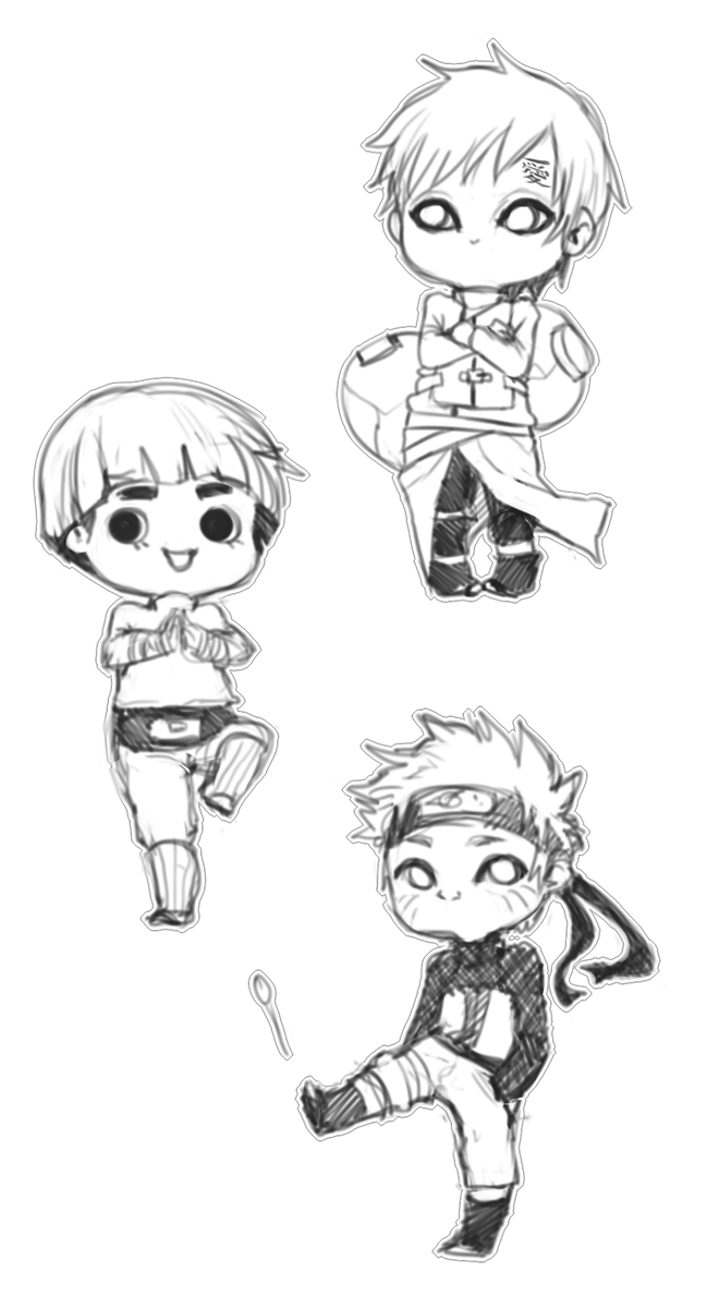 TWO Euro Naruto Chibis patch one by ymstr