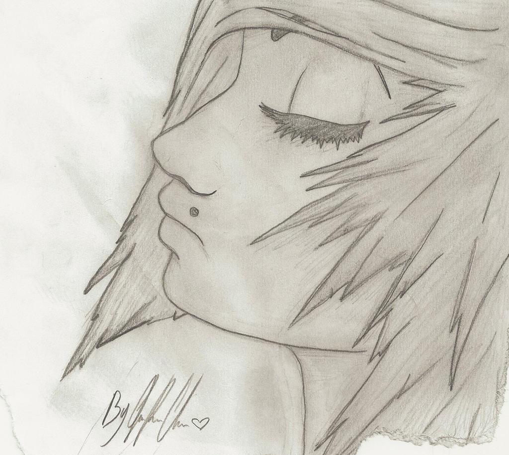 Emo Girl Drawing Emo Girl Drawing a Emo