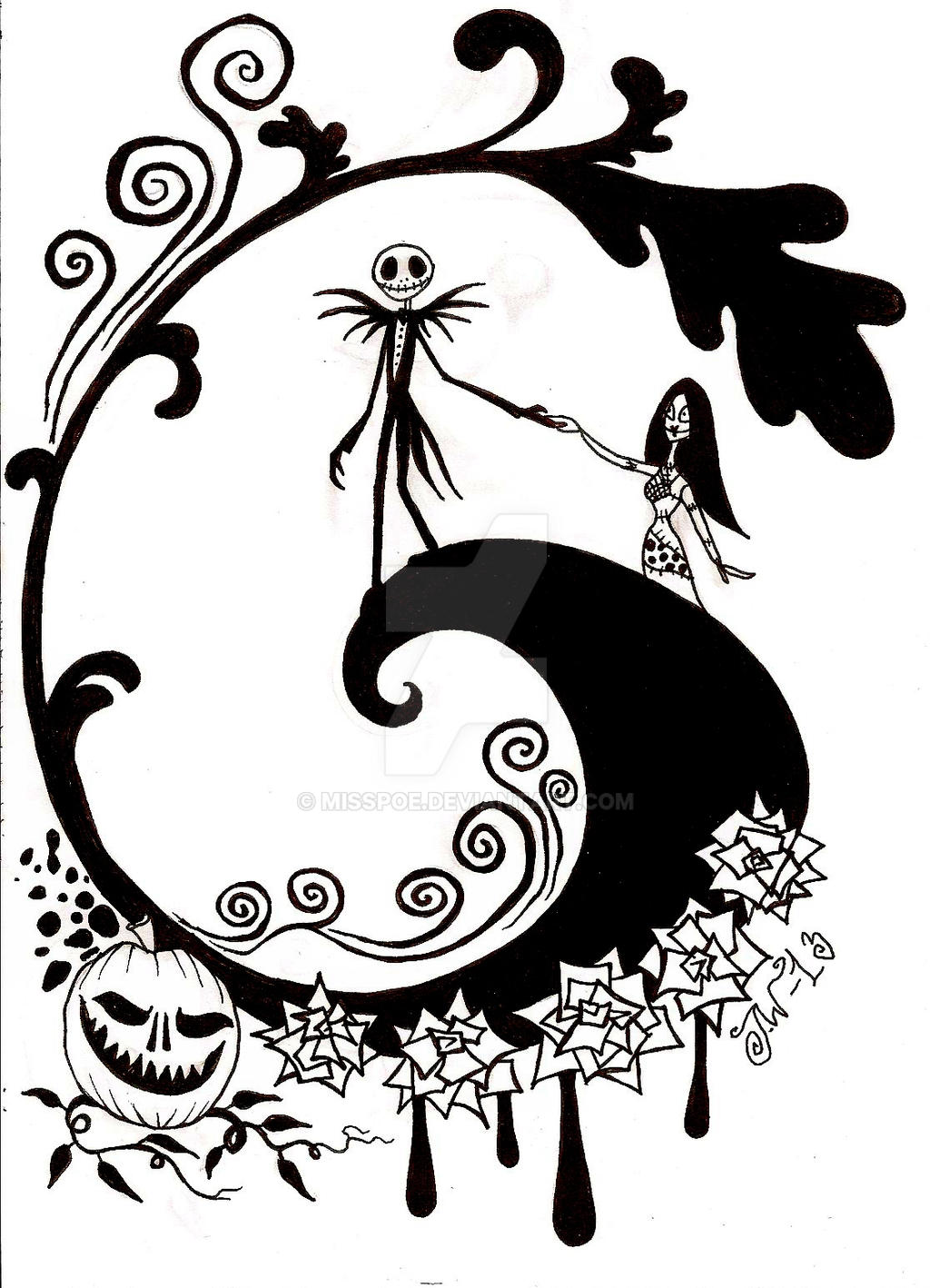 A nightmare before christmas coloring pages - The Nightmare Before Christmas By Misspoe On Deviantart