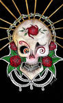 Skulls and Roses by MissPoe