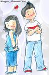Chibi Nick et Maddie 01