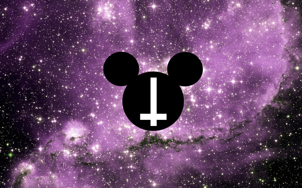Mickey Mouse Galaxy Cross Head Wallpaper By AnneDeLune