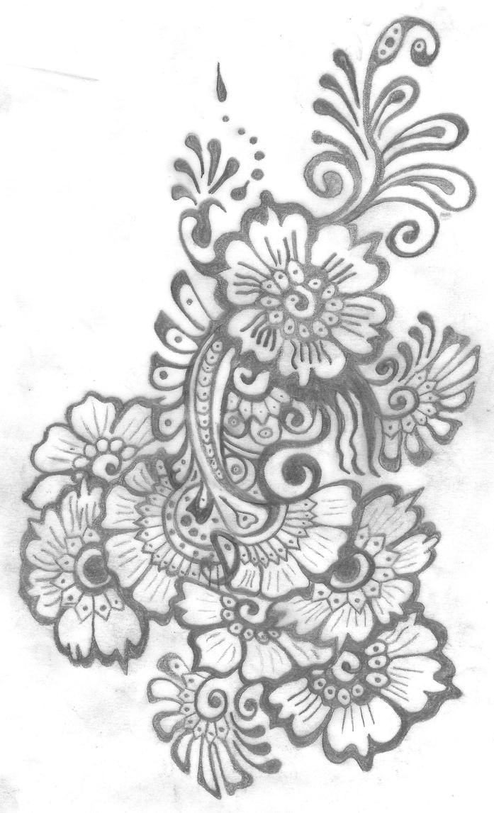 Mehndi Flower Drawing : My mehndi tattoo design by shurumitattoomi on deviantart