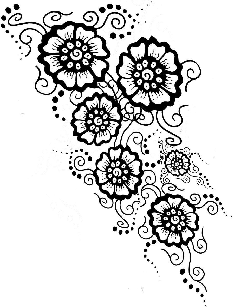 Mehndi Designs Drawings : Mehndi tattoo final design by shurumitattoomi on deviantart