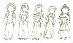 Disney Princess Line-up 1 by dewdrinker6