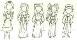 Disney Princess Line-up 3 by dewdrinker6