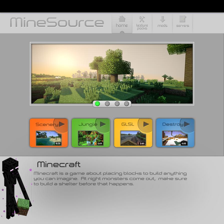 minecraft website by speeshul on deviantart. Black Bedroom Furniture Sets. Home Design Ideas