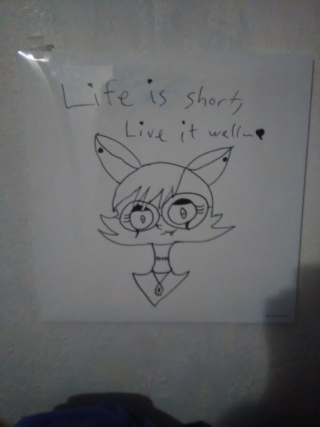 Whiteboard drawing by askcarmalapple on deviantart for Cool stuff to draw on a whiteboard