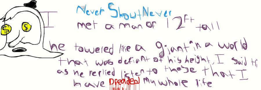 Nevershoutnever Song Lyrics by SilverMoon707 on DeviantArt