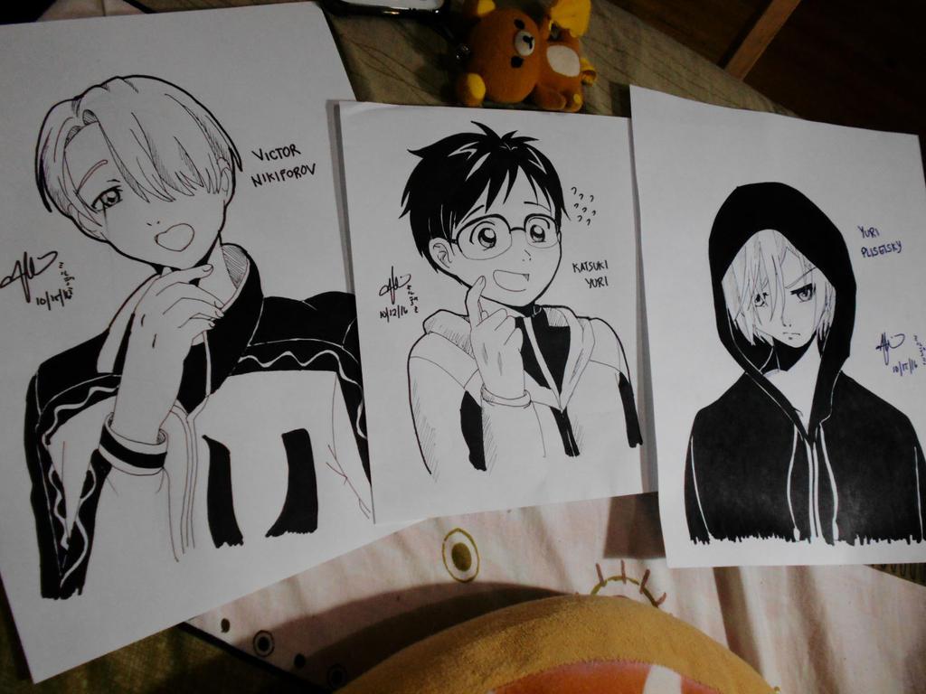 Yuri On Ice Ink Fan Art by Mildemme