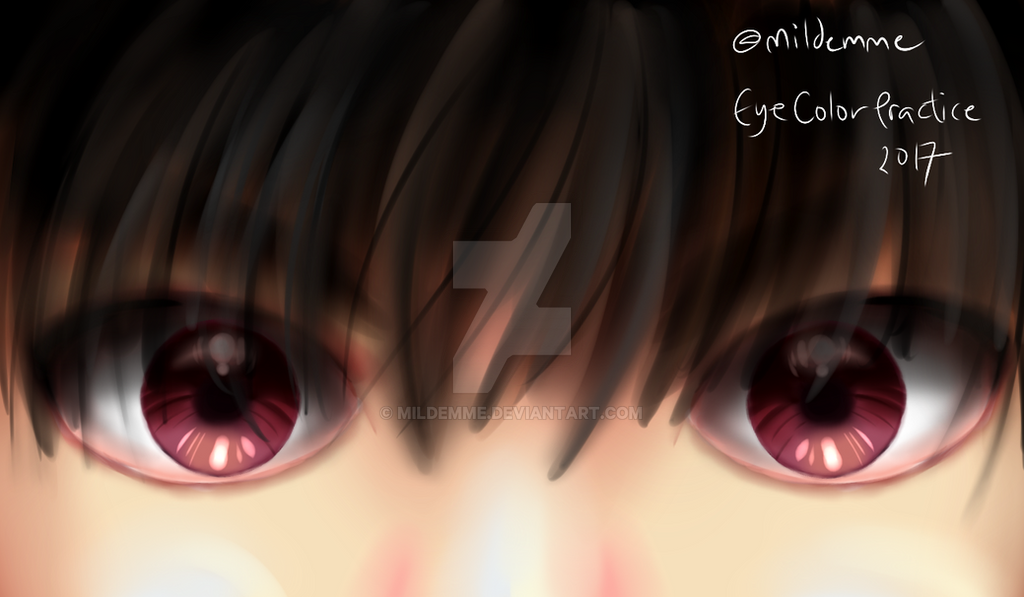 Eye Color Practice by Mildemme